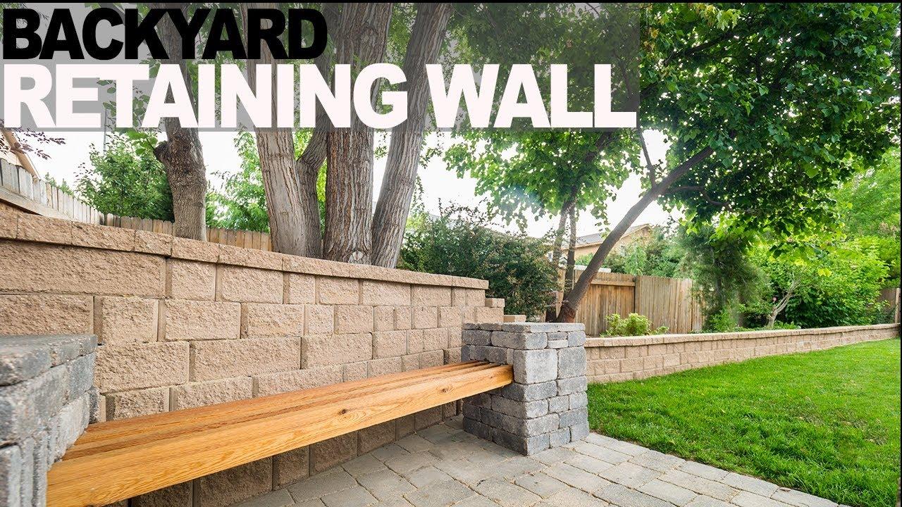 Building a Backyard Retaining Wall