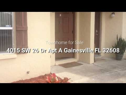4015 SW 26 Dr Apt A Gainesville FL 32608│Townhome For Sale│Call 352-478-8029