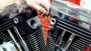 Part 11 How to install an intake manifold on Harley Davidson EVO S&S Jims Revtech