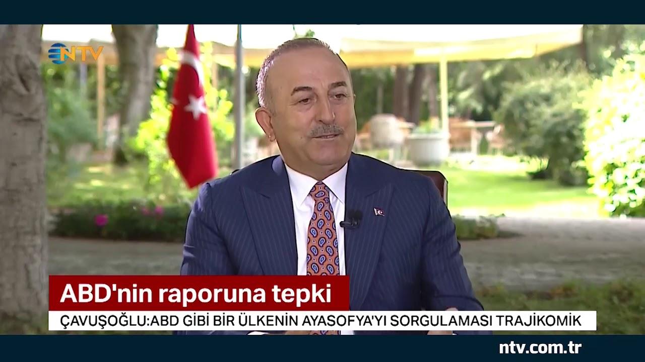 Bakan Çavuşoğlu NTV'ye konuştu: Ayasofya uluslararası konu değil