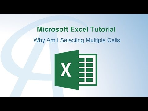 Why Am I Selecting Multiple Cells In Excel