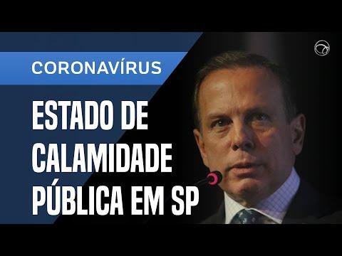 JOÃO DORIA ANUNCIA ESTADO DE CALAMIDADE PÚBLICA EM SP