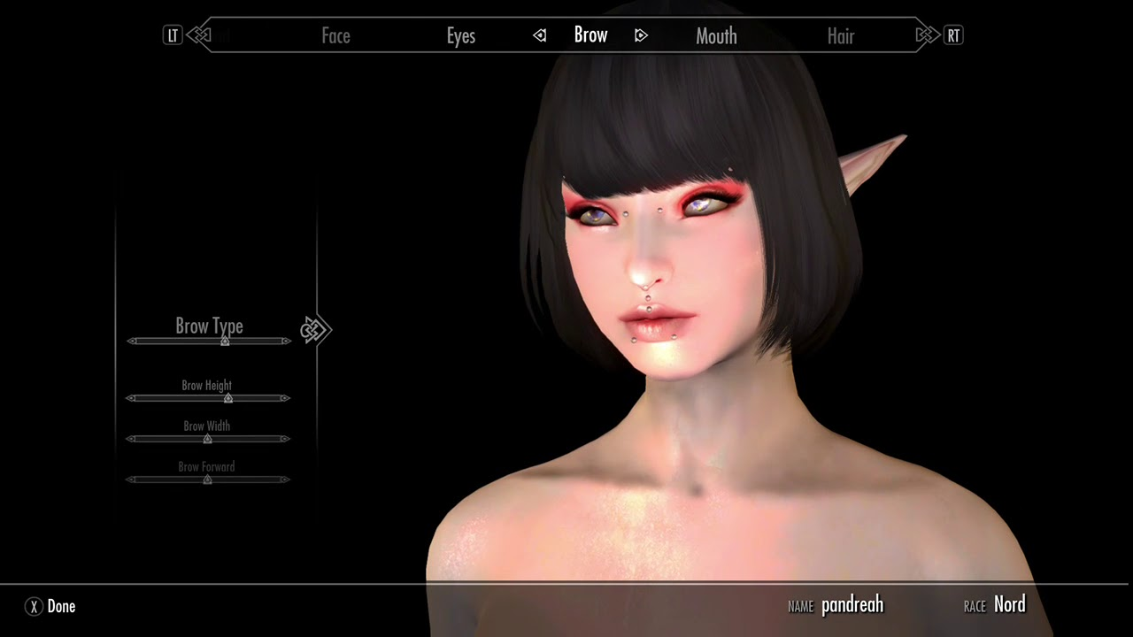 Skyrim mods Xboxone- making a eastern Asian elf?? Kinda  READ DESCRIPTION