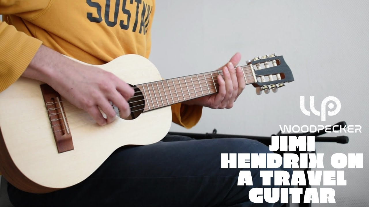 "Jimi Hendrix - Covers -  31"" Woodpecker Travel Guitar"