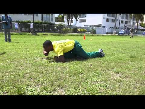 U.S. Embassy Marines and Barbados Athletes Tackle Combat Fitness Test