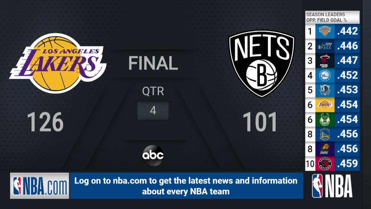 Download Lakers @ Nets | NBA on ABC Live Scoreboard