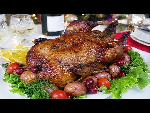 Сочная Утка в духовке с хрустящей корочкой на Новогодний Стол 2020