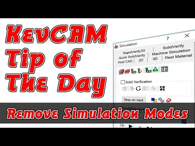 Tip of the Day - Remove Unused Simulation Tabs