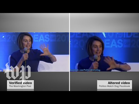 Pelosi videos manipulated