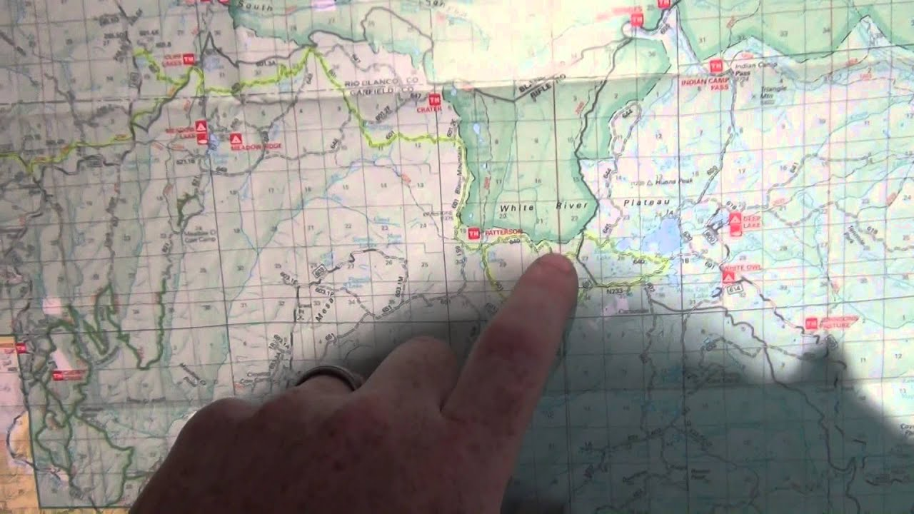 White River National Forest USFS Map - Meeker Rendezvous - YouTube