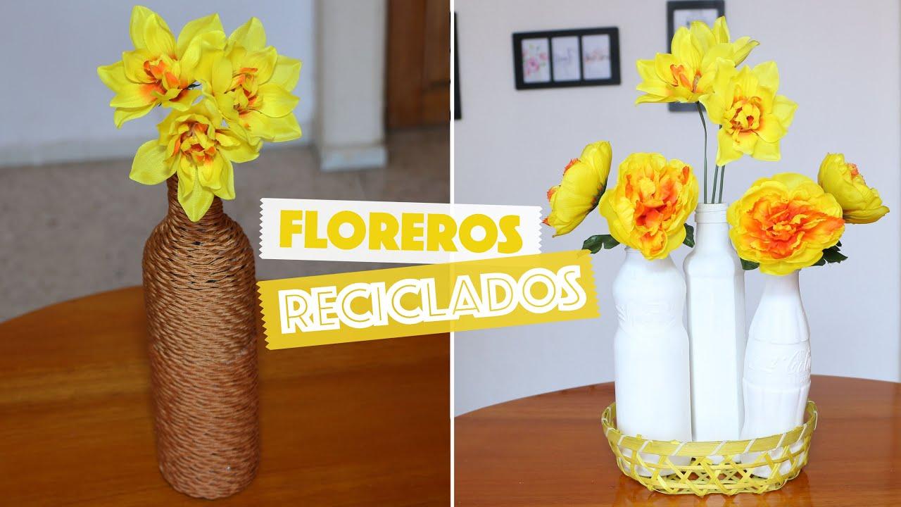 Diy floreros con botellas de vidrio reciclada recycled glass vases mi rcolesconyami youtube - Fabrica de floreros de vidrio ...