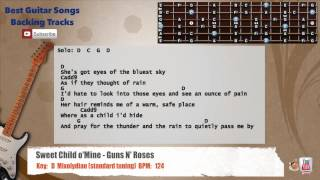 Sweet Child O' Mine - Guns N' Roses Guitar Backing Track with vocal, chords and lyrics Mp3