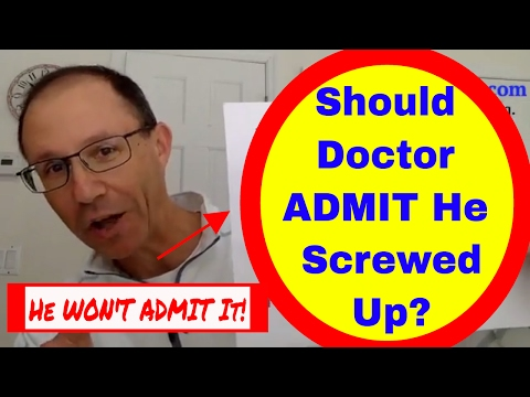 Should Doctor ADMIT He Screwed Up in a Medical Malpractice Lawsuit? FACEBOOK LIVE VIDEO