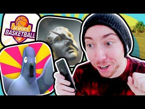 IS AR GAMING STUPID? (Pigeon Panic AR, AMON, AR Sports Basketball)