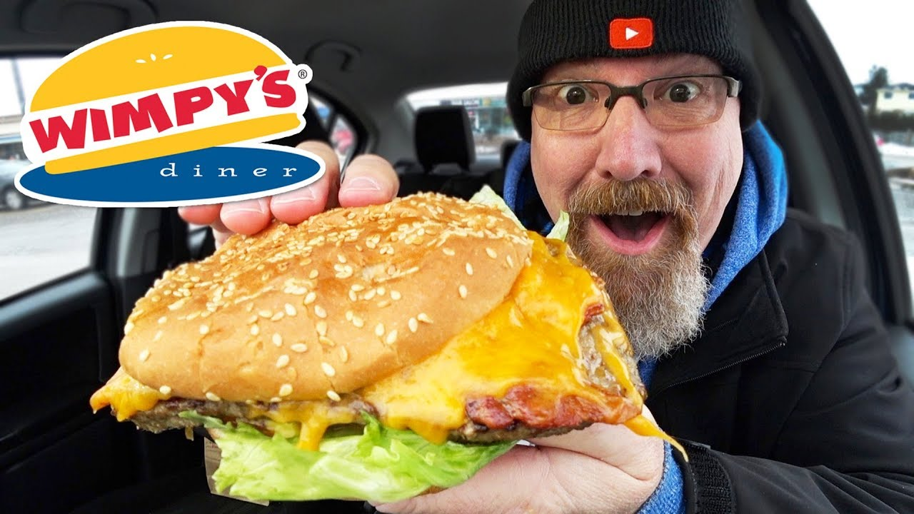 ???????????? HUGE BACON CHEESEBURGER from Wimpy's Diner