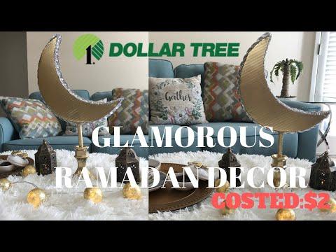 DOLLAR TREE DIY RAMADAN DECOR 2019 /DIY 3D moon centerpiece/صنع يدوي هلال لزينـه رمضان