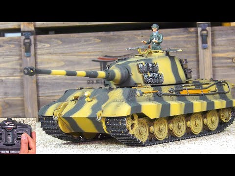 "UNBOXING! RC SCALE MODEL RTR TANK KING TIGER ""TIGER II H"" TORRO IR PRO-EDITION! *FIRST TEST"