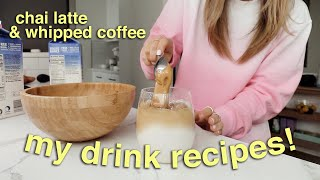 MY MORNING DRINK RECIPES (chai latte & whipped coffee) + new decor!!