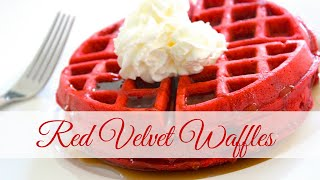 Breakfast Ideas | Red Velvet Waffles