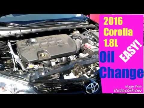 2016 Toyota Corolla Oil Change 1 8l