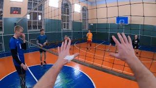 ЛЮБИТЕЛЬСКИЙ ВОЛЕЙБОЛ ОТ ПЕРВОГО ЛИЦА. Volleyball game first person with Gopro 7 black