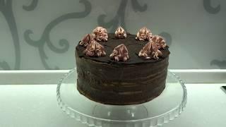 Торт Штефания Торт на желтках с шоколадно заварным кремом Простой рецепт песочного торта