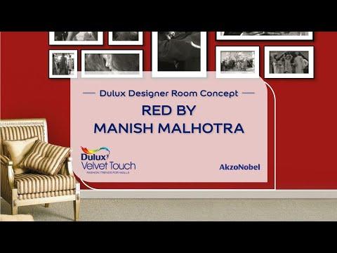 Dulux Designer Room Concept - Manish Malhotra Red