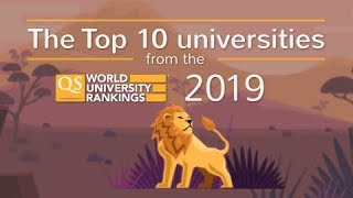 Meet the World's Top 10 Universities 2019