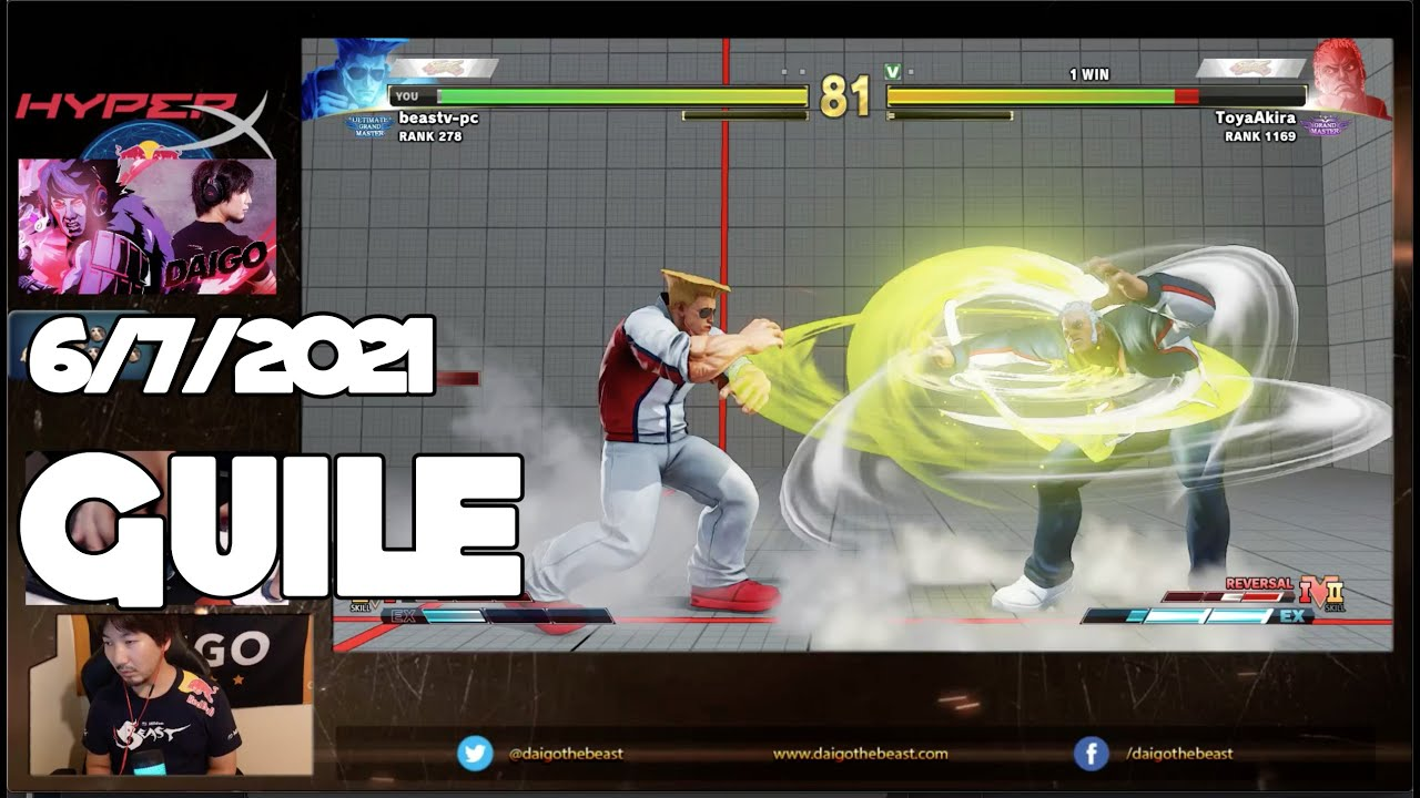 6/7/2021 ミルダム配信 Mildom - Street Fighter V ガイル Guile