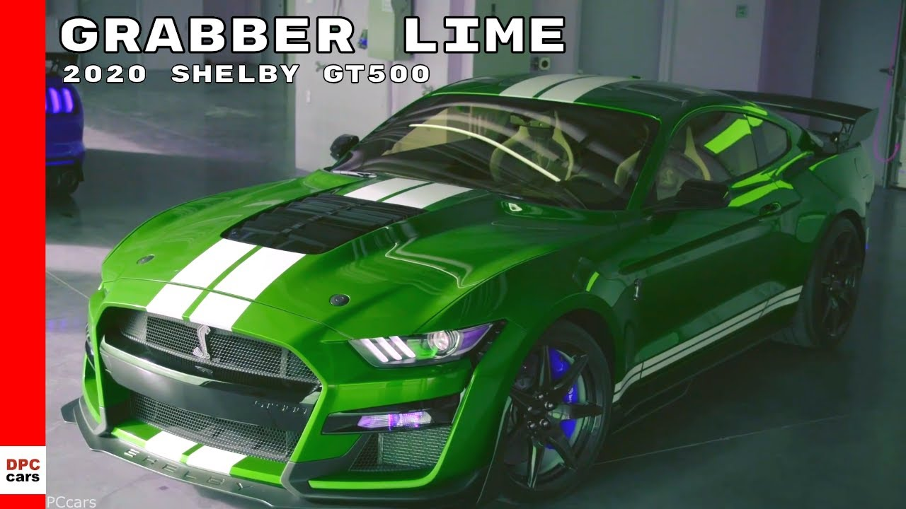Grabber lime green 2020 ford shelby gt500