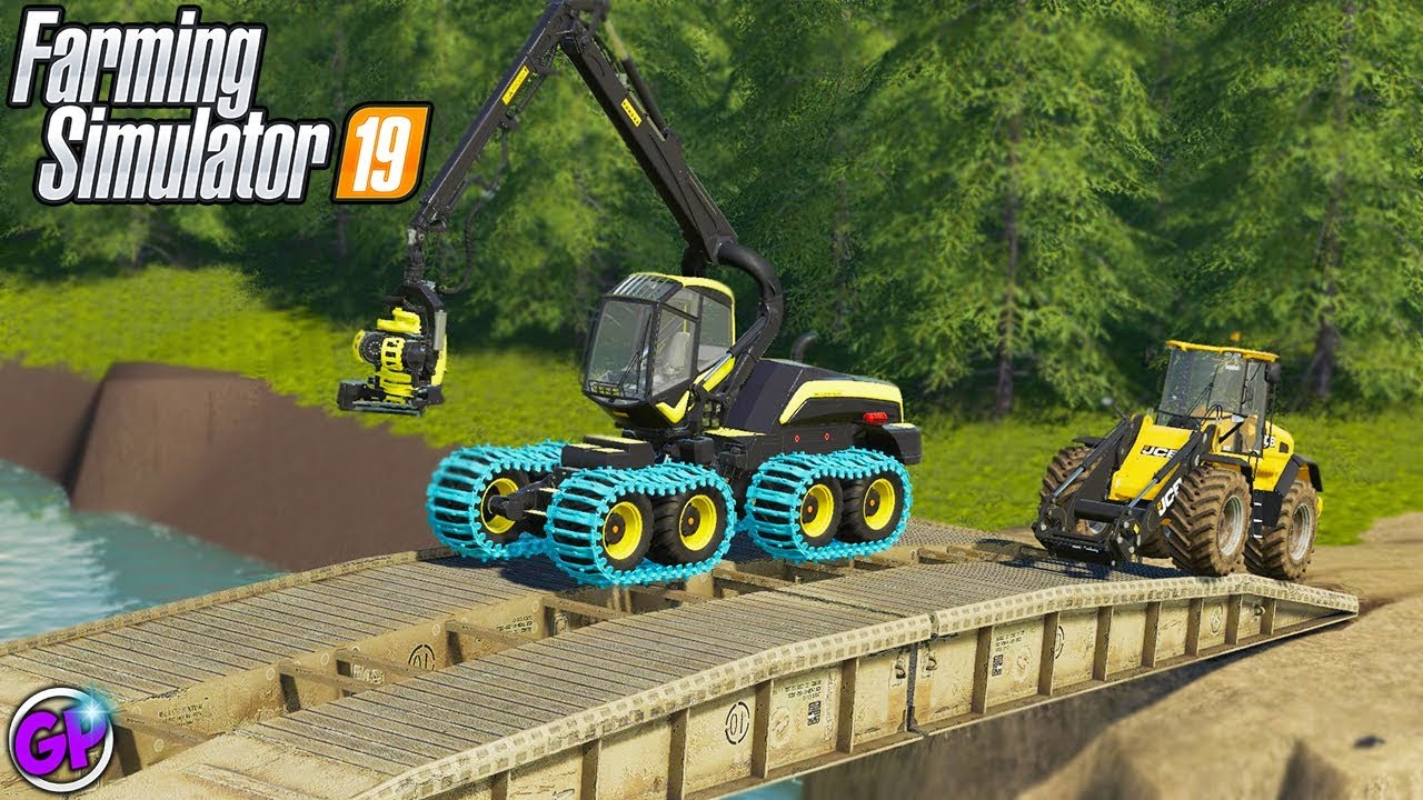 BEATING THE SQUAD AT BRIDGE BUILDING!!! FARMING SIMULATOR 19 SPENCER TV 19  GAMEPLAY