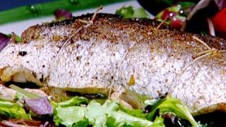 سمك بالسبانخ - غادة التلي