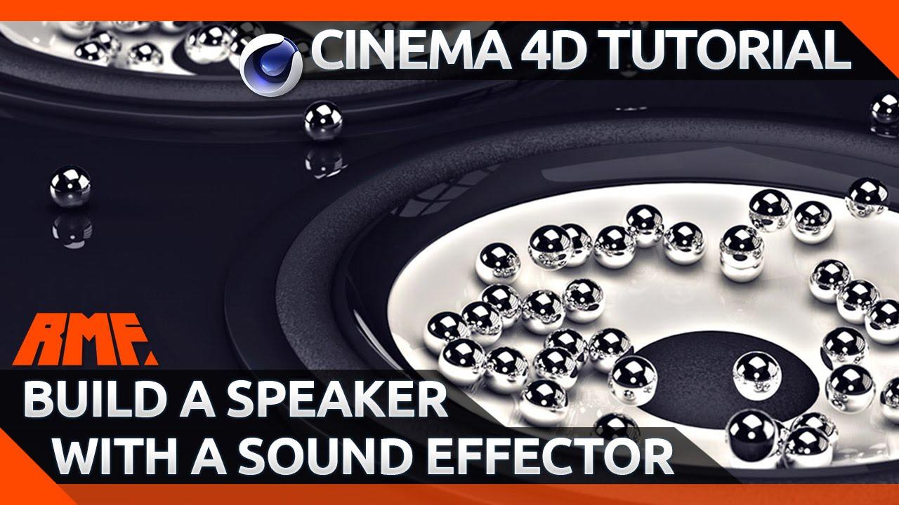 cinema 4d tutorial build a speaker with a sound effector youtube. Black Bedroom Furniture Sets. Home Design Ideas