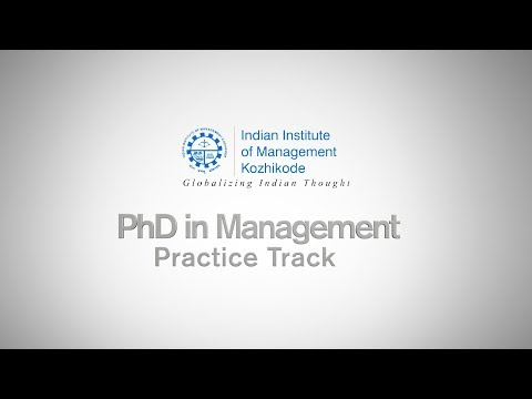 PhD in Management (Practice Track) - IIM Kozhikode