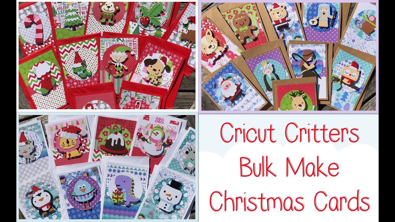 Cricut Cute Critters Bulk Make Christmas Cards - YouTube