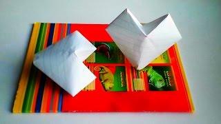 оригами сердце надувное,как сделать из бумаги сердечко  // how to make origami inflatable heart