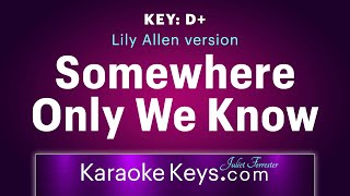 Somewhere Only We Know - Lily Allen version  (karaoke piano) WITH LYRICS