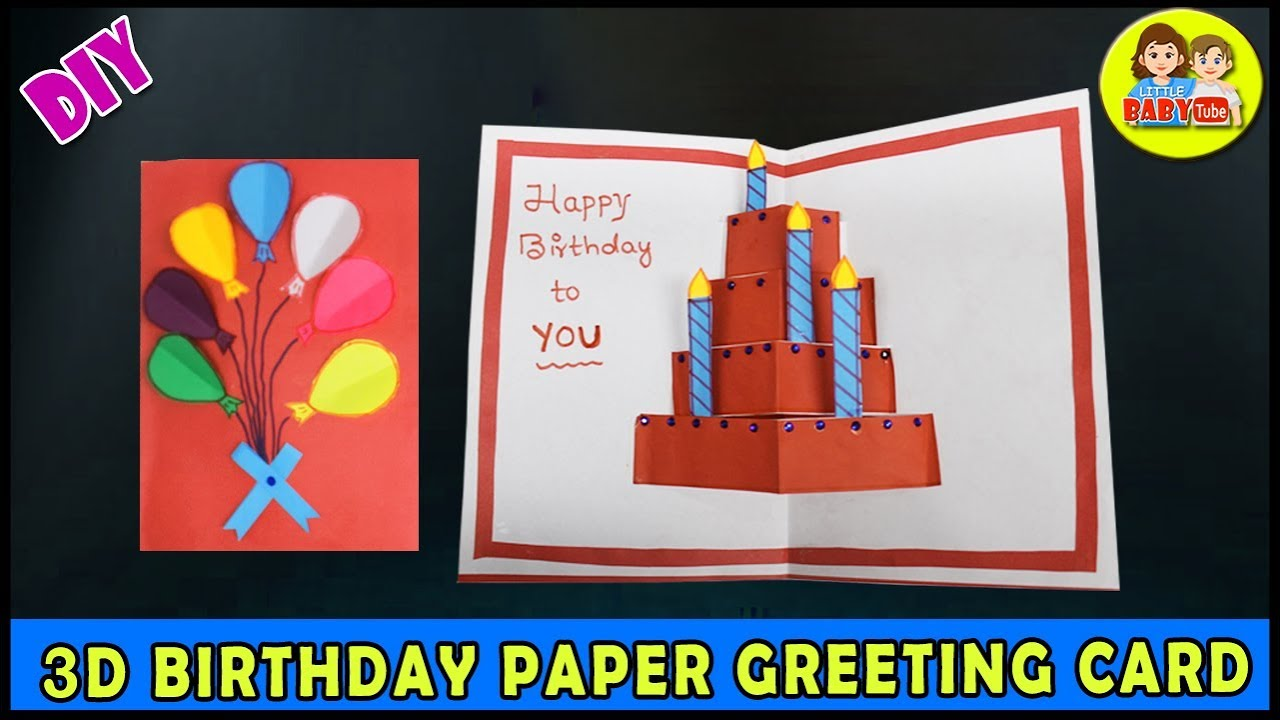 7D Birthday Greeting Card Making - Design Your Own Card - Folded Birthday  Card