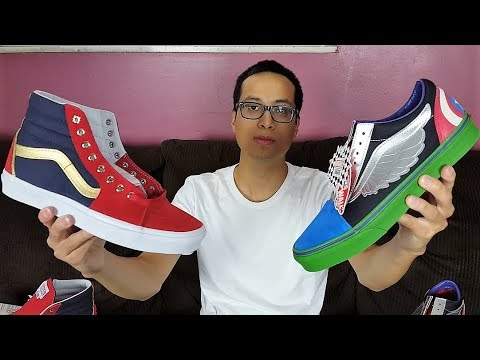 6e2ee4aee23 Sneakers Inspired By The Marvel Avengers Characters! Vans Old Skool x  Marvel Avengers Review!