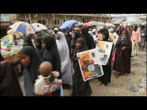 FREE ZAKZAKY PROTEST MARCH. IN THE MARKET.