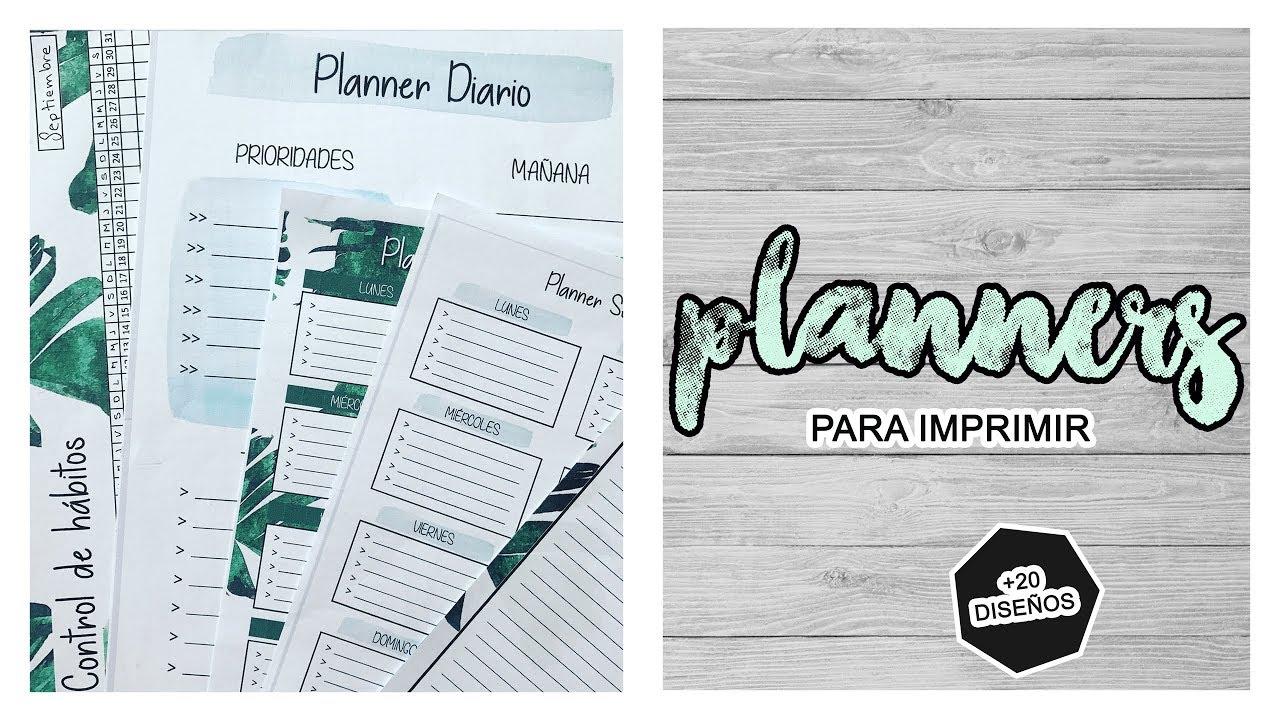 PLANNERS Y ORGANIZADORES GRATIS PARA IMPRIMIR - ORGANIZA TU TIEMPO ...