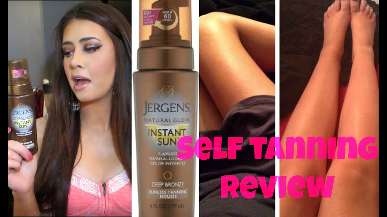 Holy Grail Self Tanner Jergens Instant Sun Self Tanning Mousse Youtube