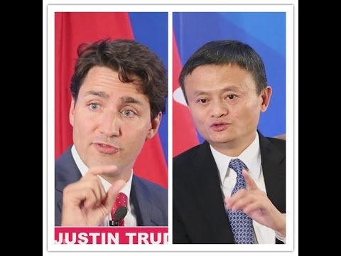 On his first official visit to China, what did Canadian PM say to Jack Ma?