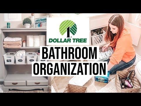 DOLLAR TREE BATHROOM ORGANIZATION // EXTREME CLEANING MOTIVATION