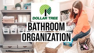 DOLLAR TREE BATHROOM ORGANIZATION // EXTREME CLEANING MOTIVATION