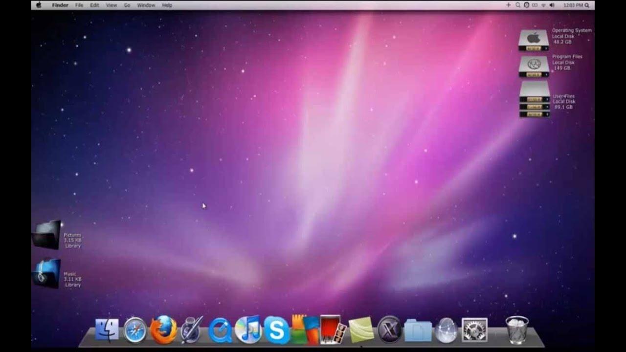 how to make windows 7 look like mac os x lion youtube. Black Bedroom Furniture Sets. Home Design Ideas