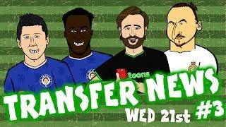 TRANSFER NEWS #3! (Lewandowski to Chelsea? Man Utd? Zlatan to Real Madrid? Lukaku to Chelsea?)