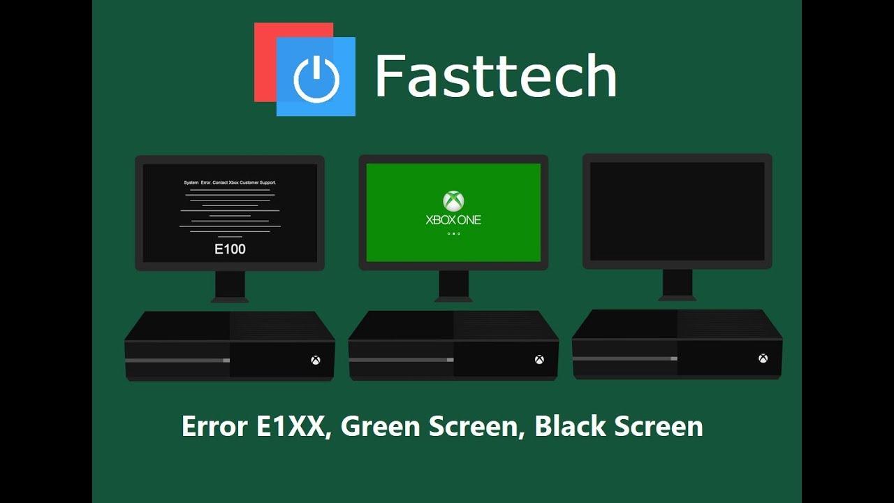 Xbox One E100,E101,E102,E105,E200 Black Screen, Stuck on Xbox logo