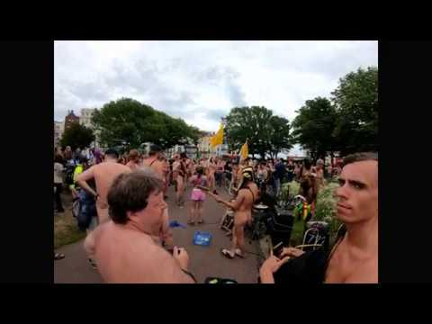 World Naked Bike Ride 2019 - Brighton !!! GoPro Hero 7 black