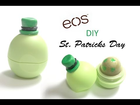 DIY St. Patrick's Day EOS Container- How to Make EOS Lip Balm